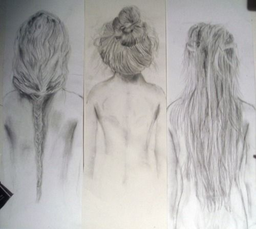 Beautiful Charcoal Sketches Of Hair Sketches Art Drawings How To Draw Hair