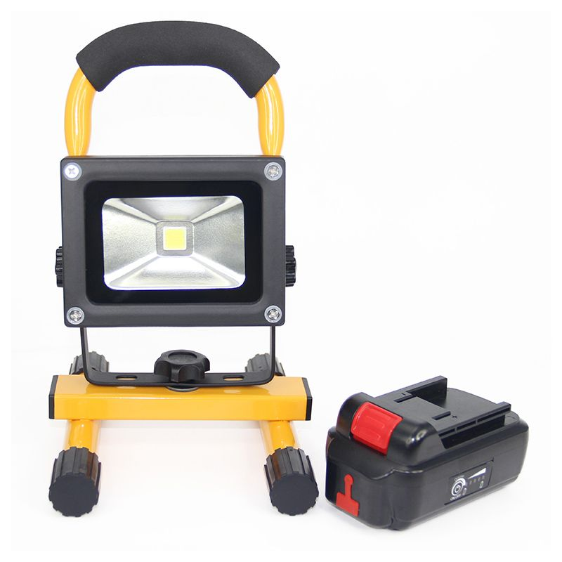10w Led Floodlight Portable Lanterns Waterproof Outdoor Indoor Spotlight With 4400mah Detachable Battery For Camping Hiking
