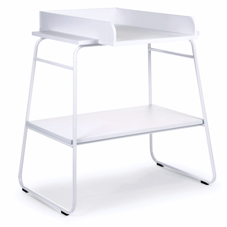 Superb White Modern Change Table In Wood And Metal Designed By Childhome