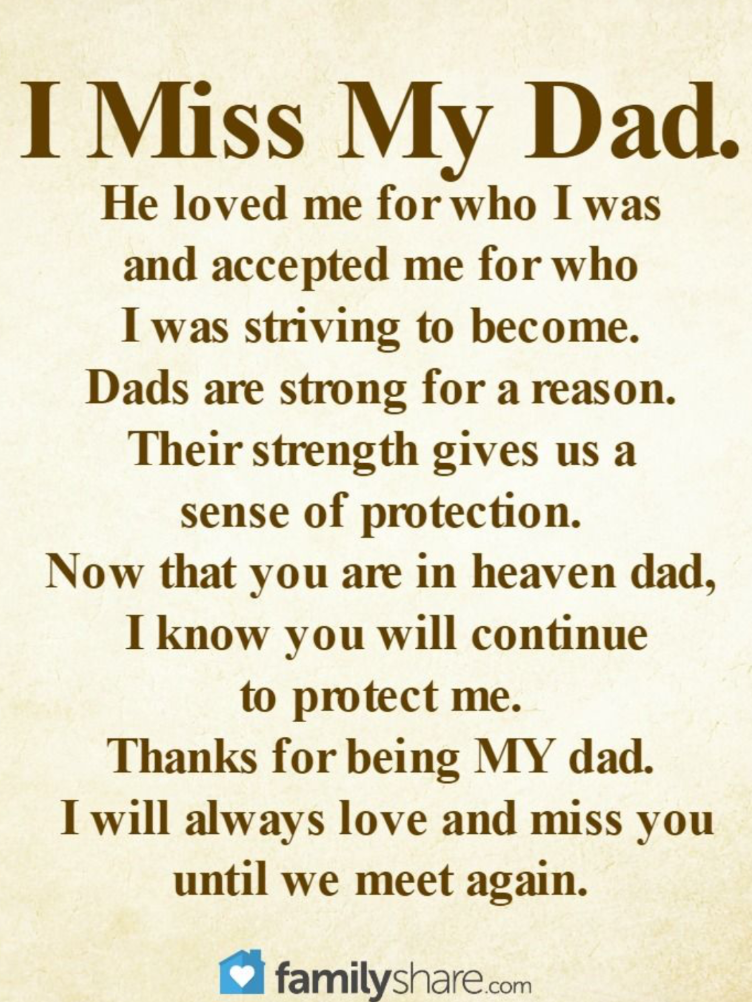 More than ever | Miss you dad quotes, Dad quotes ...