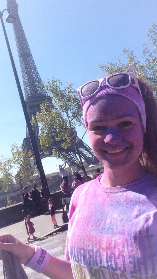 Color run #Paris #colorrun #eiffeltower #france #fun #color #run