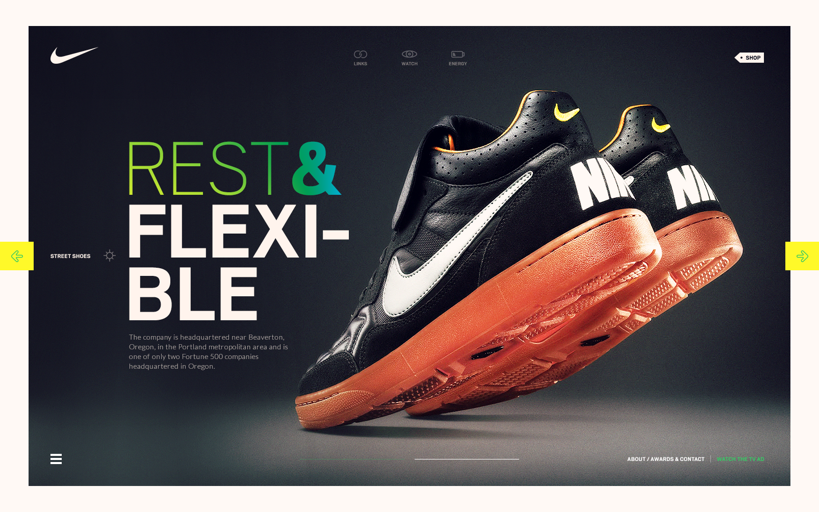 Dribbble Nike Concept I Png By Cenk Yilmaz Web Design Quality Web Design Web Graphic Design