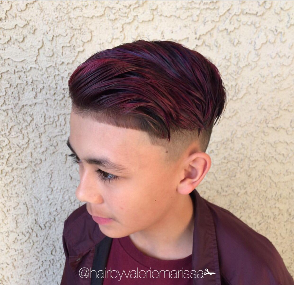 men's hair trends burgundy