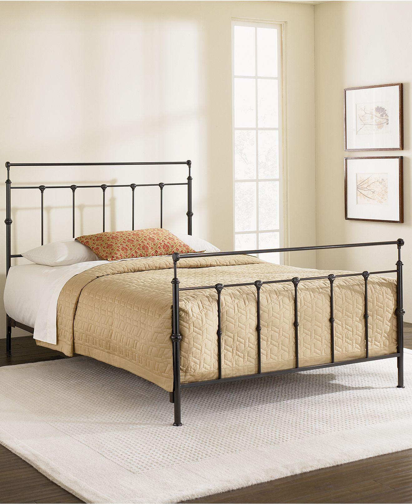 Kingston Mahogany Gold King Bed Metal Bed Frame