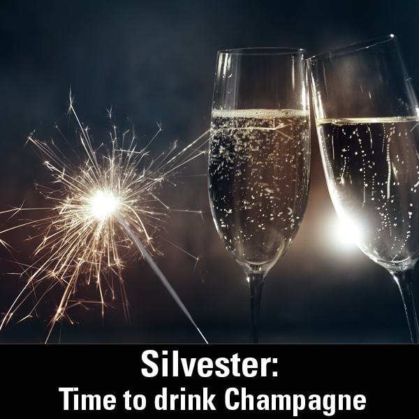 Silvester Time to drink Champagne and dance on the table