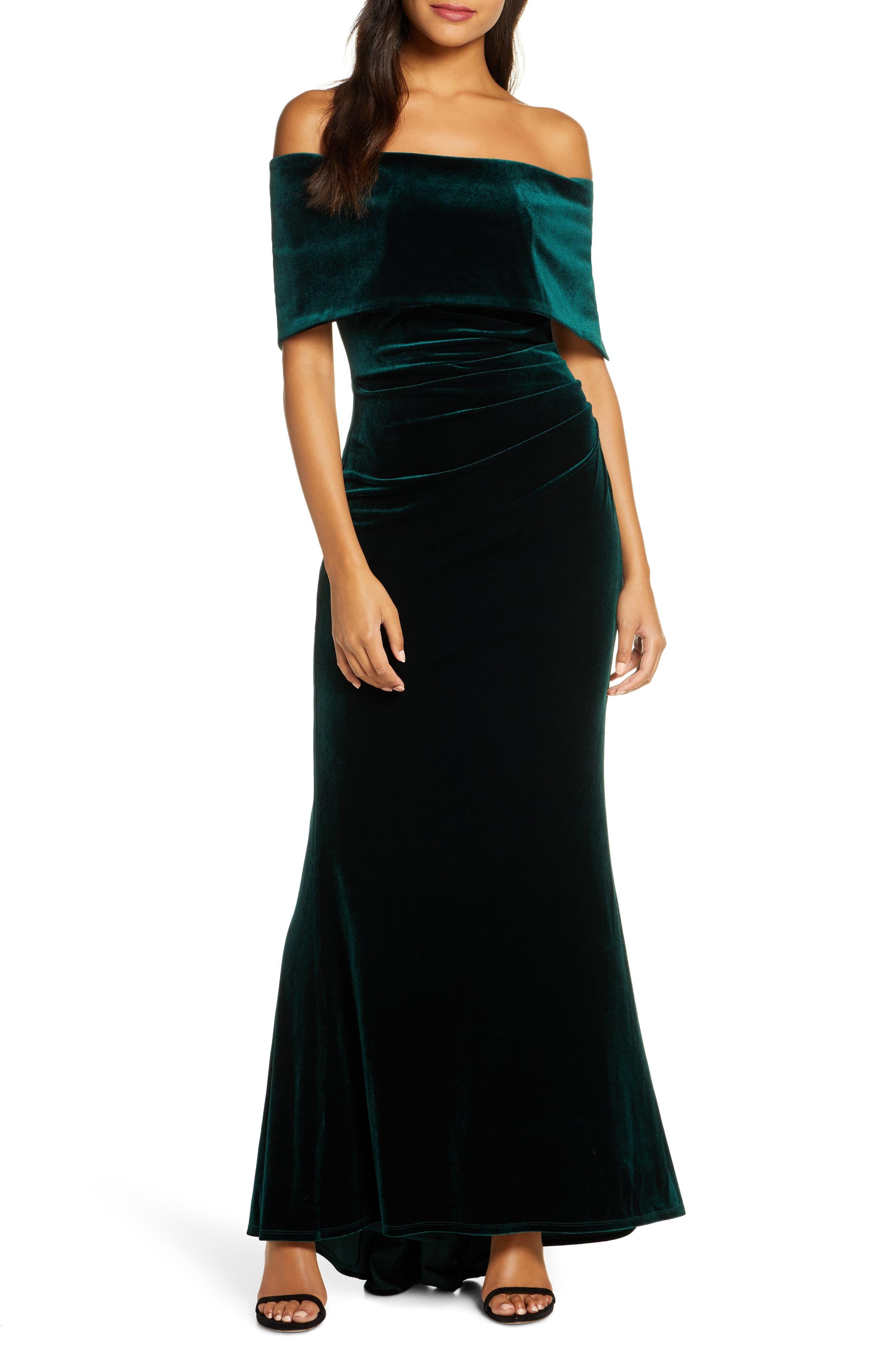 Vince Camuto Off The Shoulder Velvet Trumpet Gown Nordstrom Fashion Clothes Women Gowns Trumpet Gown [ 4048 x 2640 Pixel ]