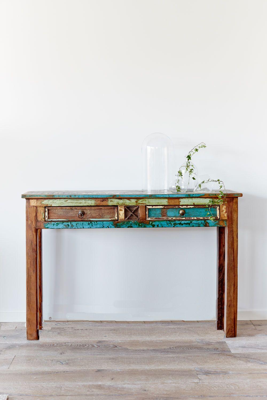 Återvunnet trä i retrostil   Möbler av återvunnet trä   Pinterest