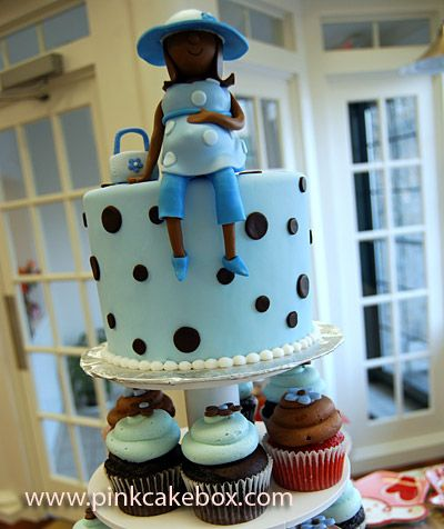 Baby Blue Baby Shower Cupcake Tower Baby Shower Cupcake Towers