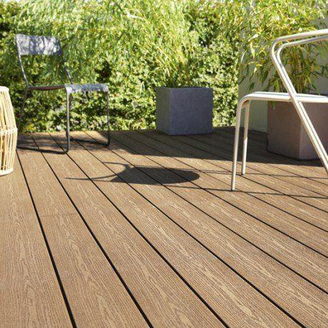 Planche Composite Premium Veine Brun Fonce L 300 X L 15 Cm X Ep 21 Mm Planche Composite Terrasse Bois Composite Terrasse Bois