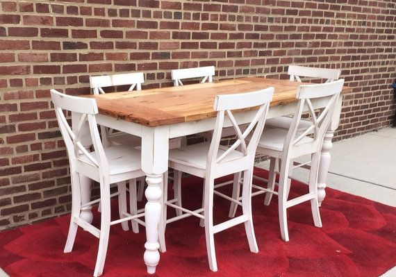 Counter Height Table Farmhouse Table Island By WonderlandWoodworks