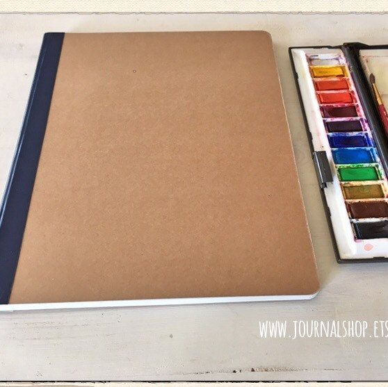 Large Watercolor Art Journal Sketchbook 9 X 11 8 23x30 Cm