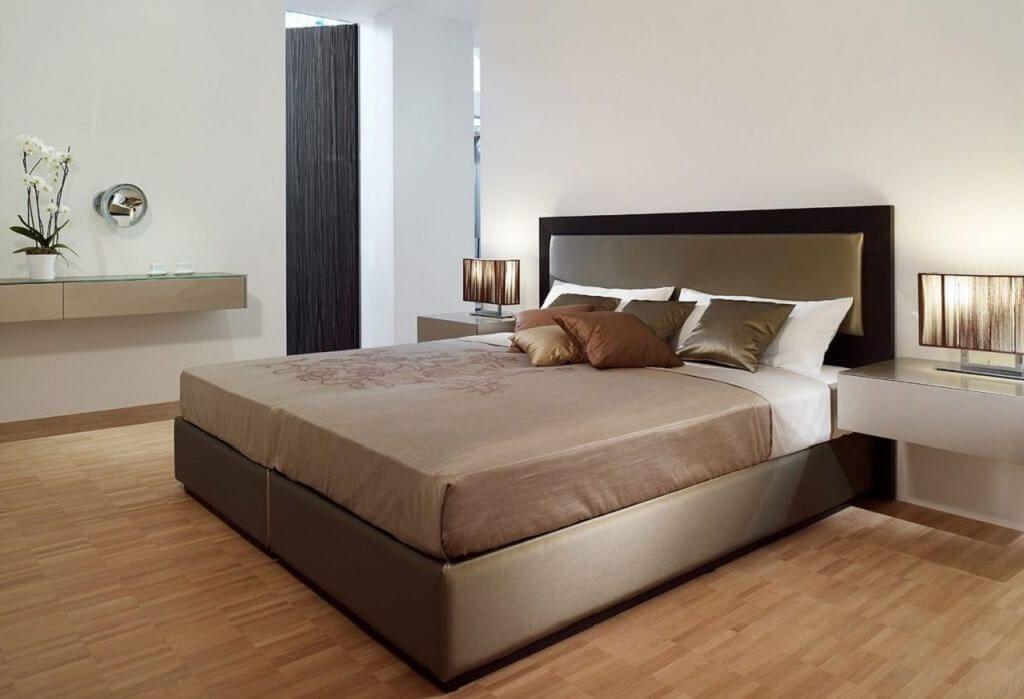 Ideen Schlafzimmer Einrichten   Farben Grau Weiß Gold   Gestaltung  Dekoration Bett Schrank Nachttisch Beleuchtung