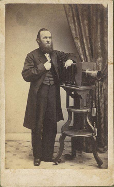 1870 Carte De Visite Portrait Of The Photographer Benjamin Lochman With His Camera B Lochmans Photographic Gallery Via Christopher Wahren Fine
