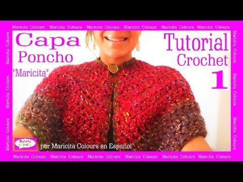 Capa Poncho A Crochet Ganchillo Maricita 1 Por Colours Tutorial Gratis