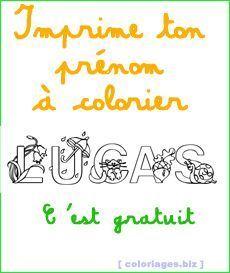 Coloriages gratuits pr nom imprimer gratuit activit s simples pour enfants coloriage - Prenom a imprimer ...