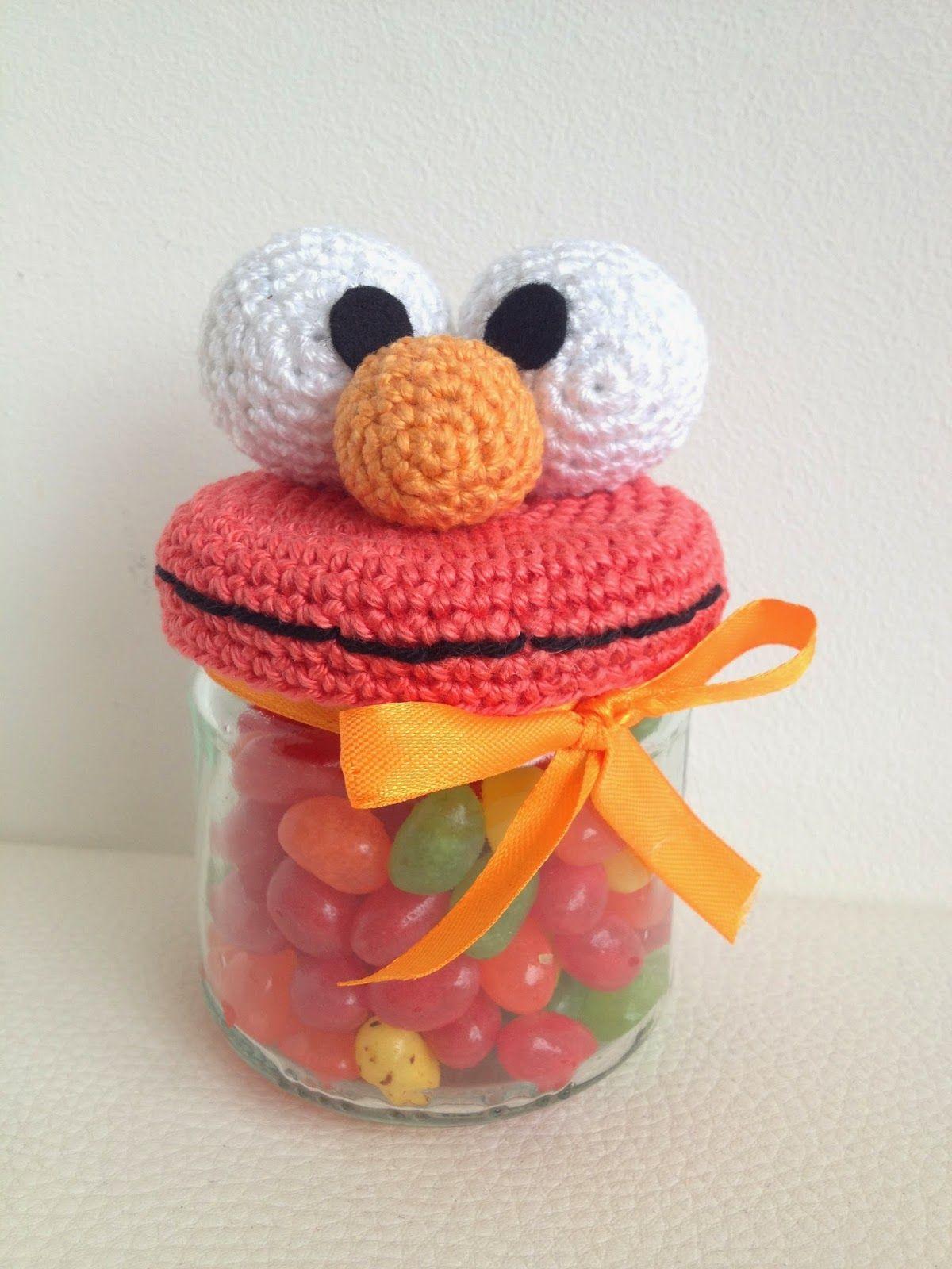 Troetels En Zo Haakpatroon Elmo Potje Crochet For Home