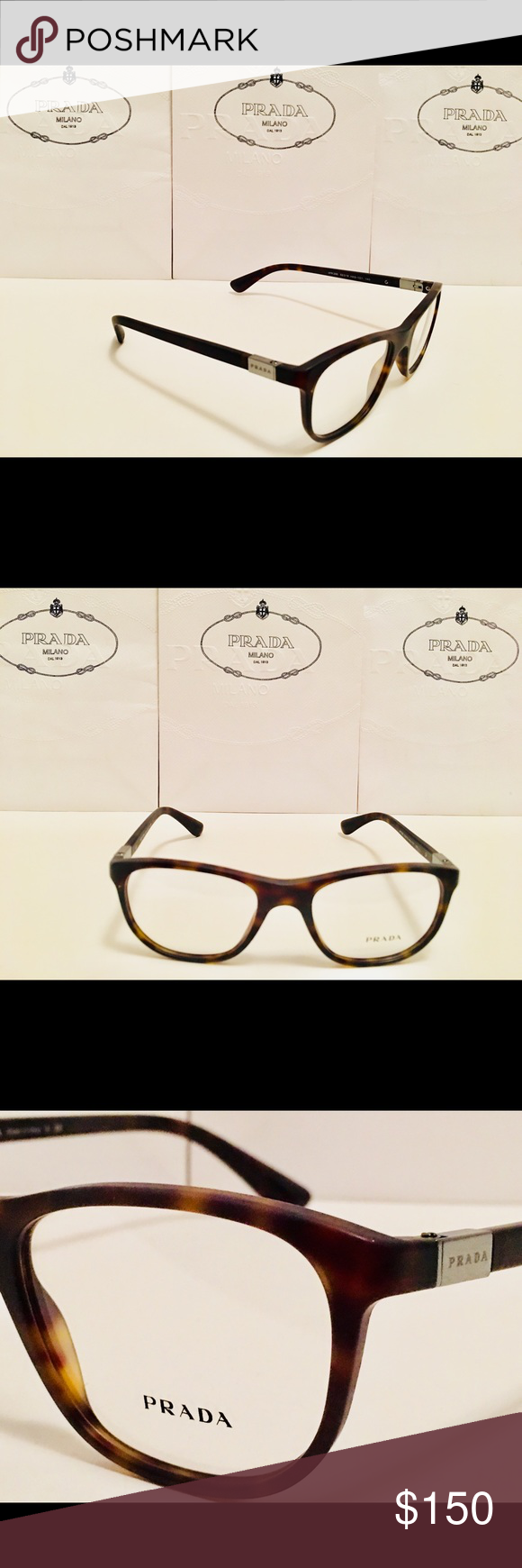 dc7098641afe Prada Eyeglasses VPR29S Matte Havana Brown 52mm Brand New! 100% Authentic! Prada  Eyeglasses VPR29S Matte Havana Brown 52mm Size  52-19-140 Unisex Demo Lens  ...
