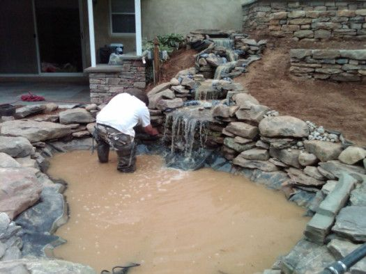 Installing a pond with liner | DIY Landscaping | Building ...