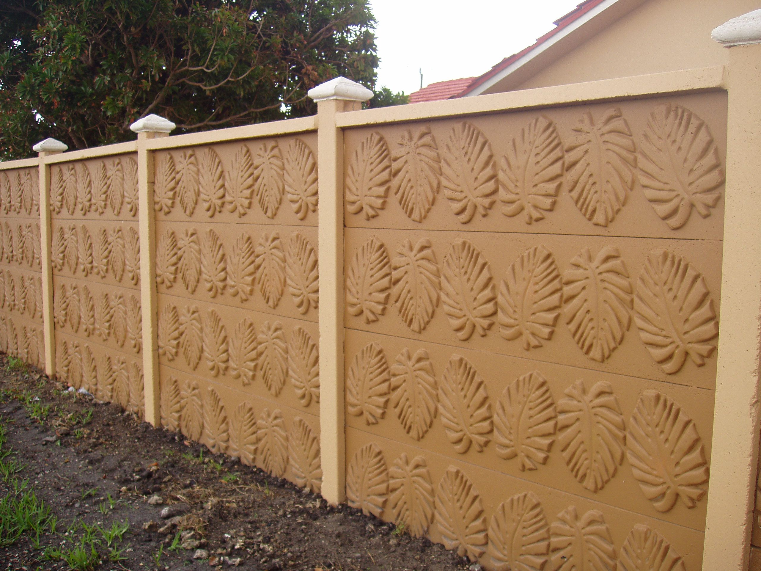 Concrete Block Fence Design