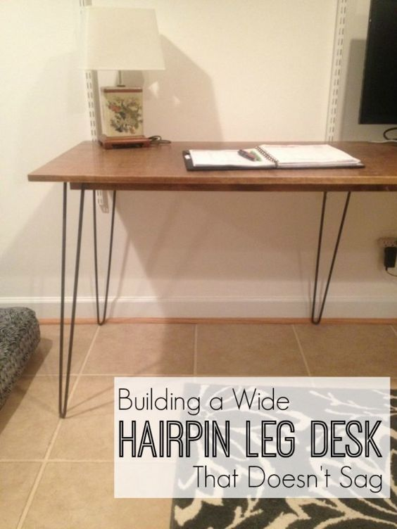 How To Build A Wide Hairpin Leg Desk That Doesn T Sag In The Middle Diy Hairpin Tutorial Hairpin Leg Desk Hairpin Legs Diy Diy Desk