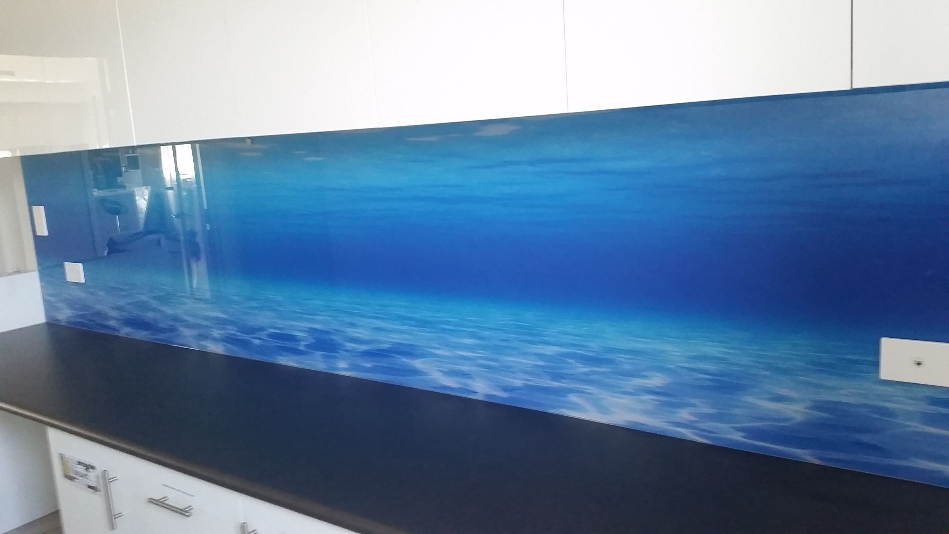 Underwater Glass splashback in Perth | Glass splashbacks Perth ...