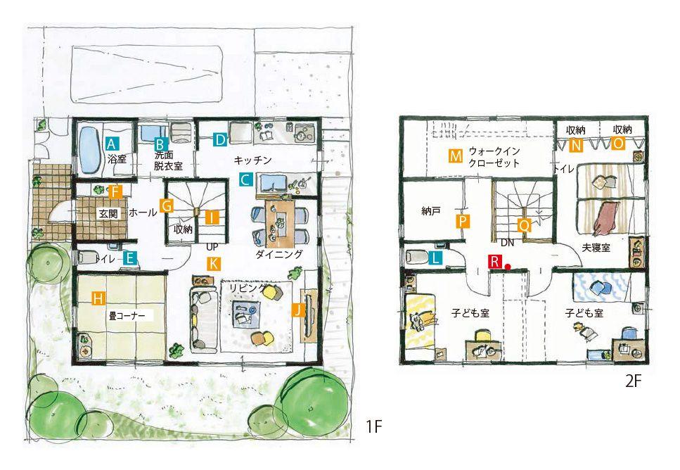 広々とした生活空間を確保したコンパクトな家 間取りプランニング