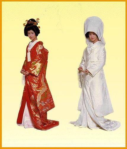 de Bodas y sobre-kimono para la recepción
