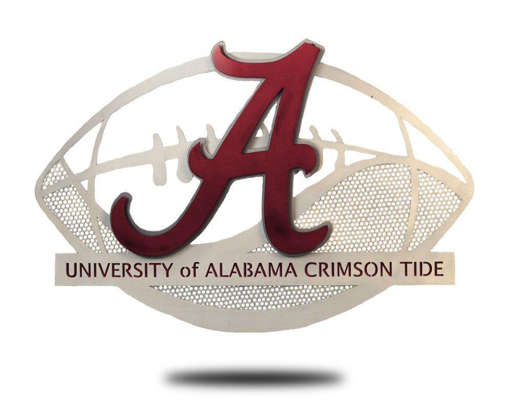 University Of Alabama Aluminum Football 3d Vintage Metal Artwork University Of Alabama Alabama Crimson Tide Alabama Crimson Tide Football
