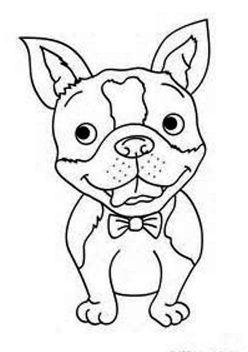 Coloriage bouledogue fran ais activites enfants - Dessin tete de chien ...