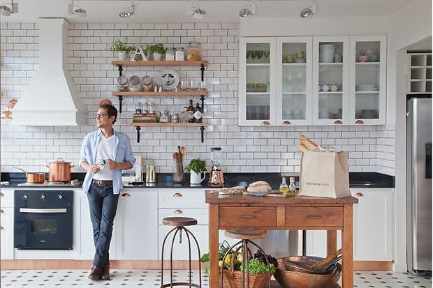 Cocinas con azulejos tipo metro para una atm sfera vintage for Azulejo metro cocina