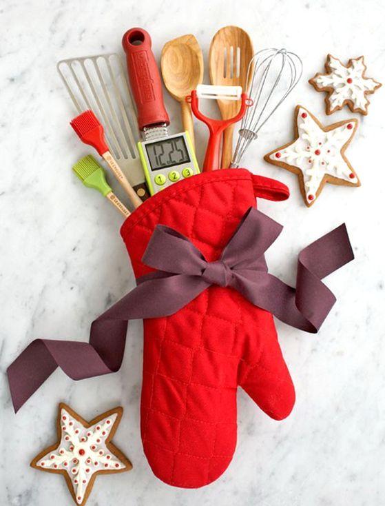 Baker\u0027s Gift Oven Mitt Gifts Pinterest Homemade christmas