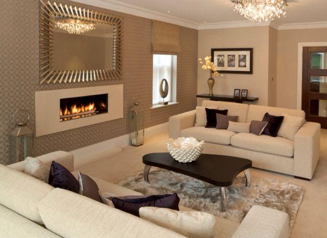 Neutral Taupe Cream Espresso Living Room Beige Living Rooms