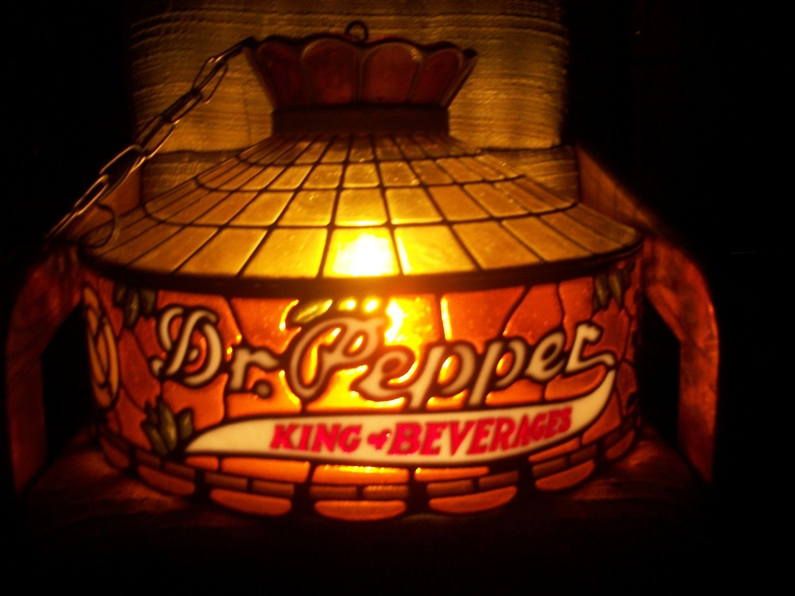 Vintage Tiffany Stylite Dr Pepper Hanging Light | eBay ...