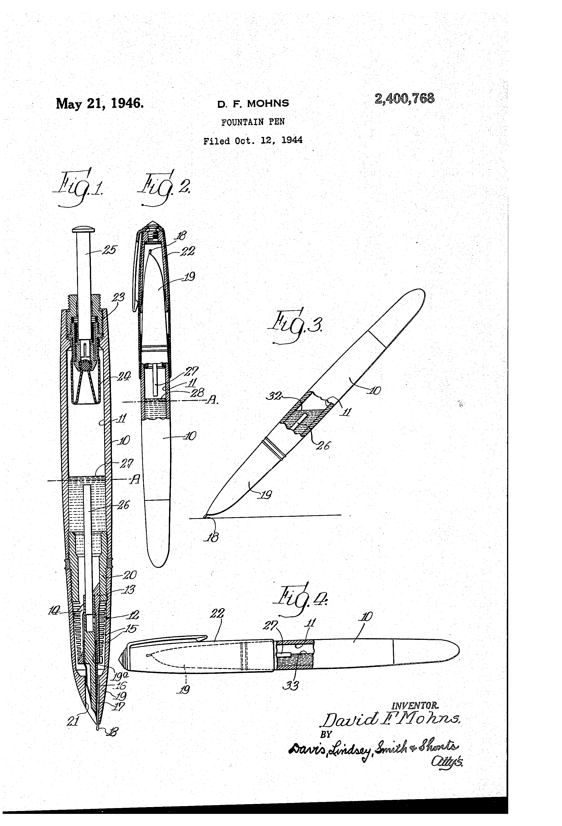 Patent For The Parker 51