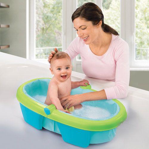 Foldaway Folding Baby Bath Tub Best Investment We Made Folds Up