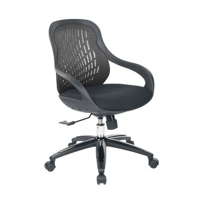 Creative Images International Black Ergonomic Office Chair
