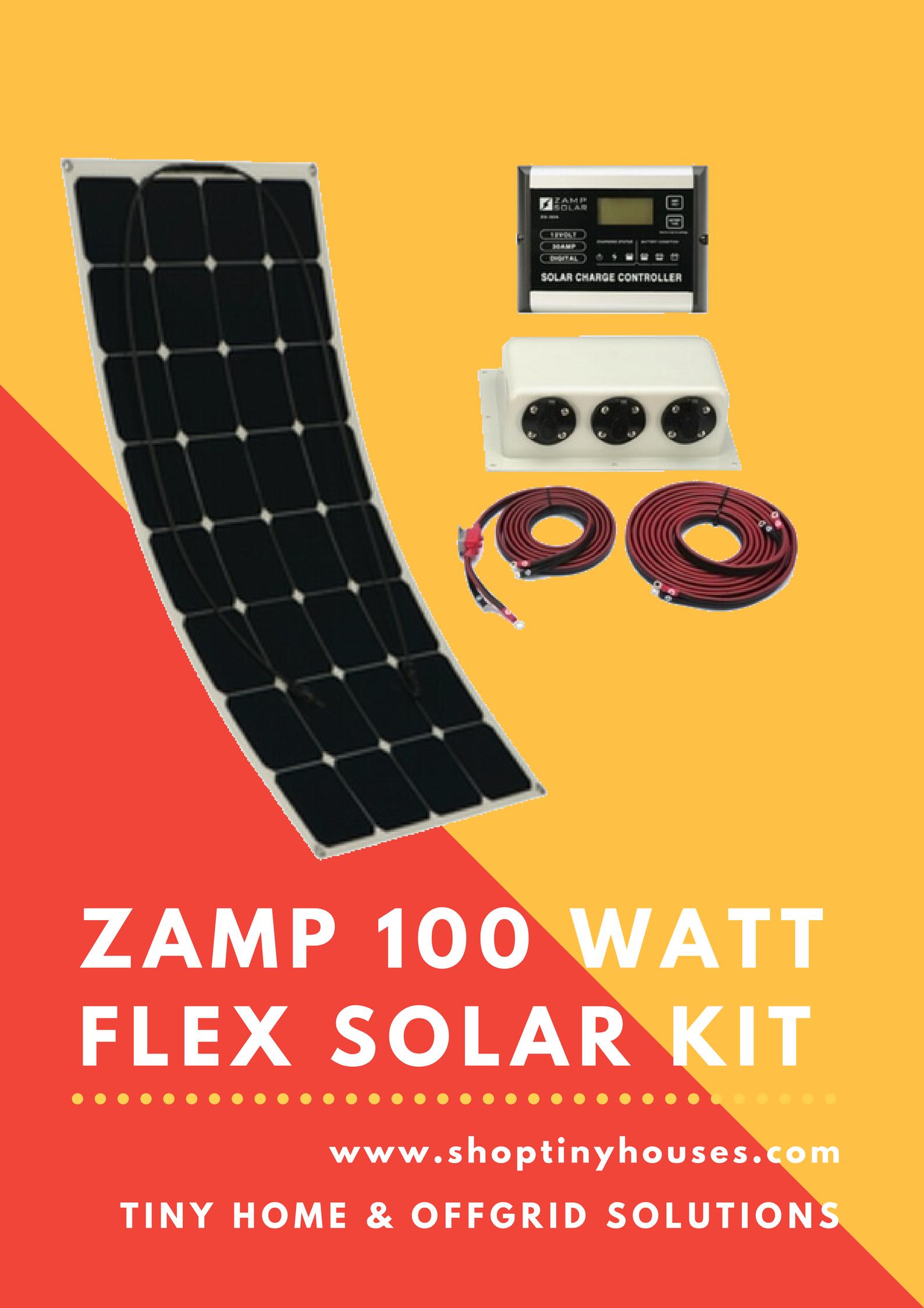 Zamp 100 Watt Flexi Deluxe Solar Kit Solar Panel System