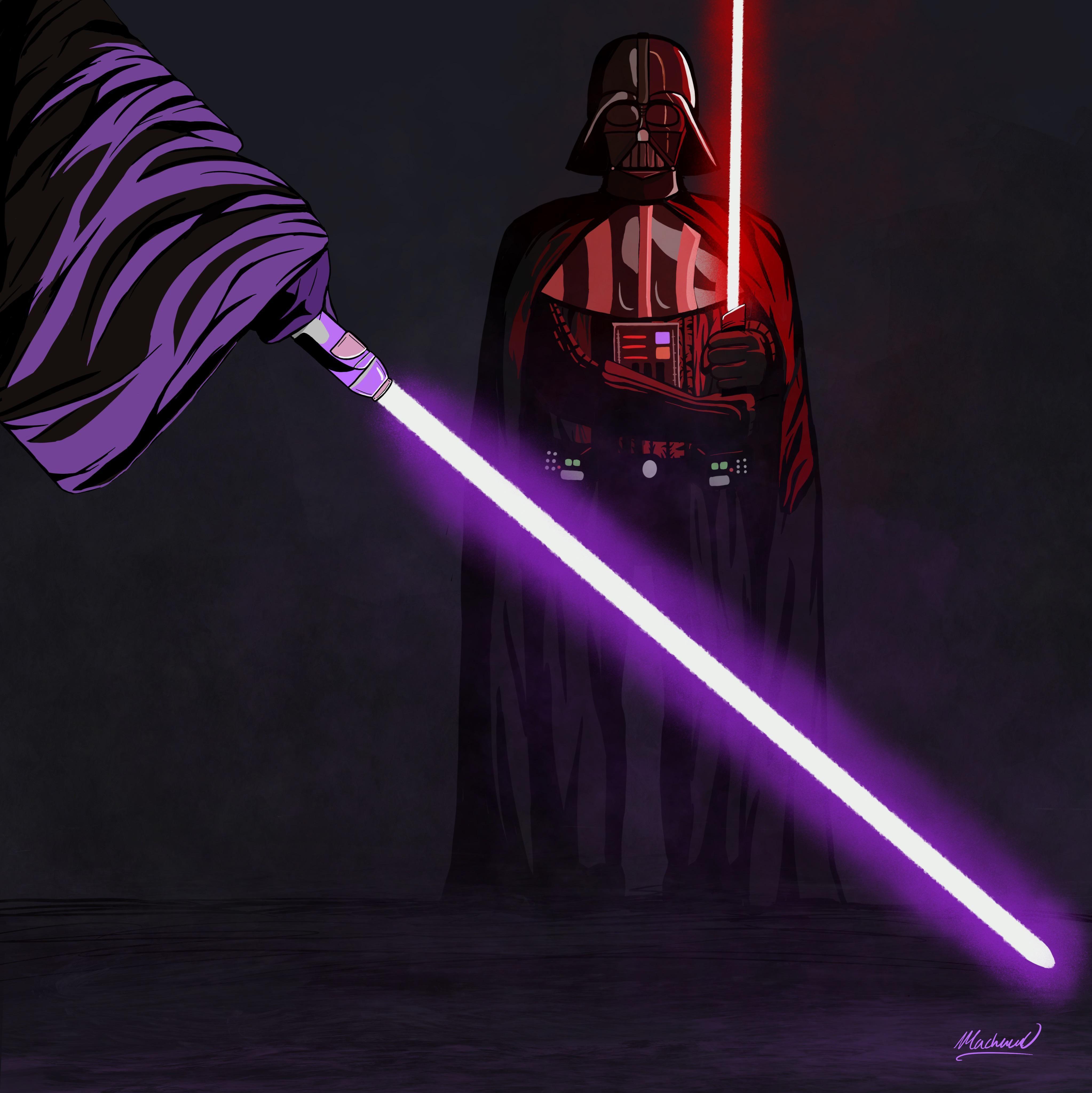 Mace Windu Star Wars Poster Art Mace Windu Fan Art