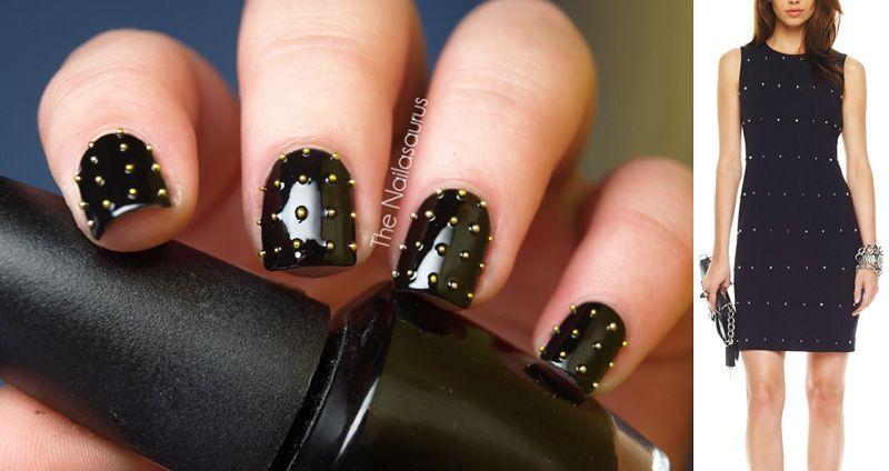 Michael Kors inspired stud nails. | Nails | Pinterest | Locura