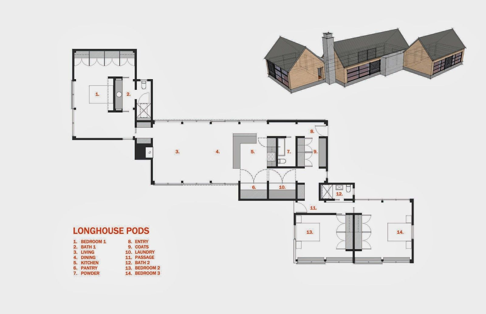 Long House Floor Plans Design Ranch Skinny Log Home Longhouse Pods Home Design Floor Plans Barn House Plans House Floor Plans