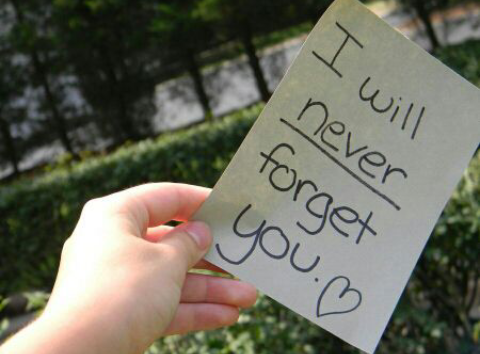 I will never forget you. ♥