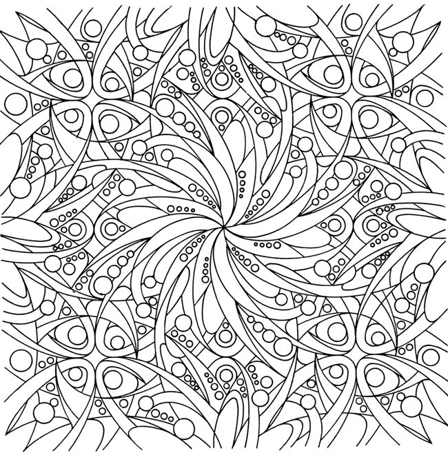 celtic kaleidoscope coloring page | Adult coloring pages | Pinterest ...