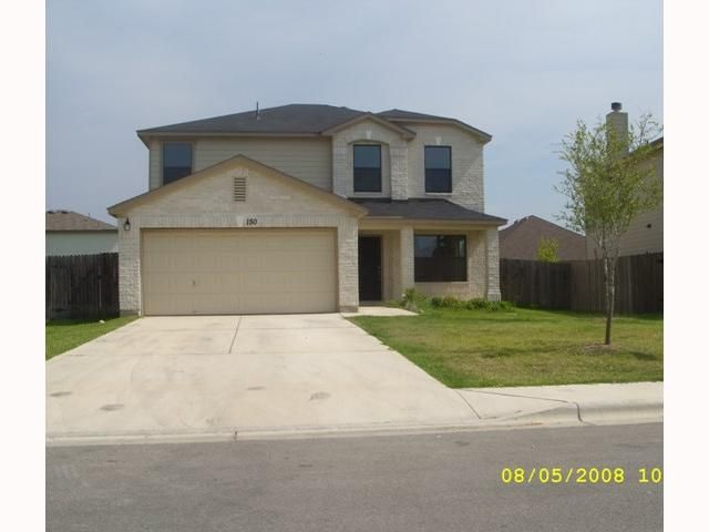 Home in the Waterleaf Subdivision in Kyle Texas. This home was purchased as a bank foreclosure.