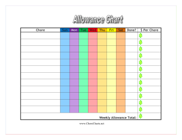 photograph about Printable Allowance Chore Chart named Pin upon Finding out/Reading through