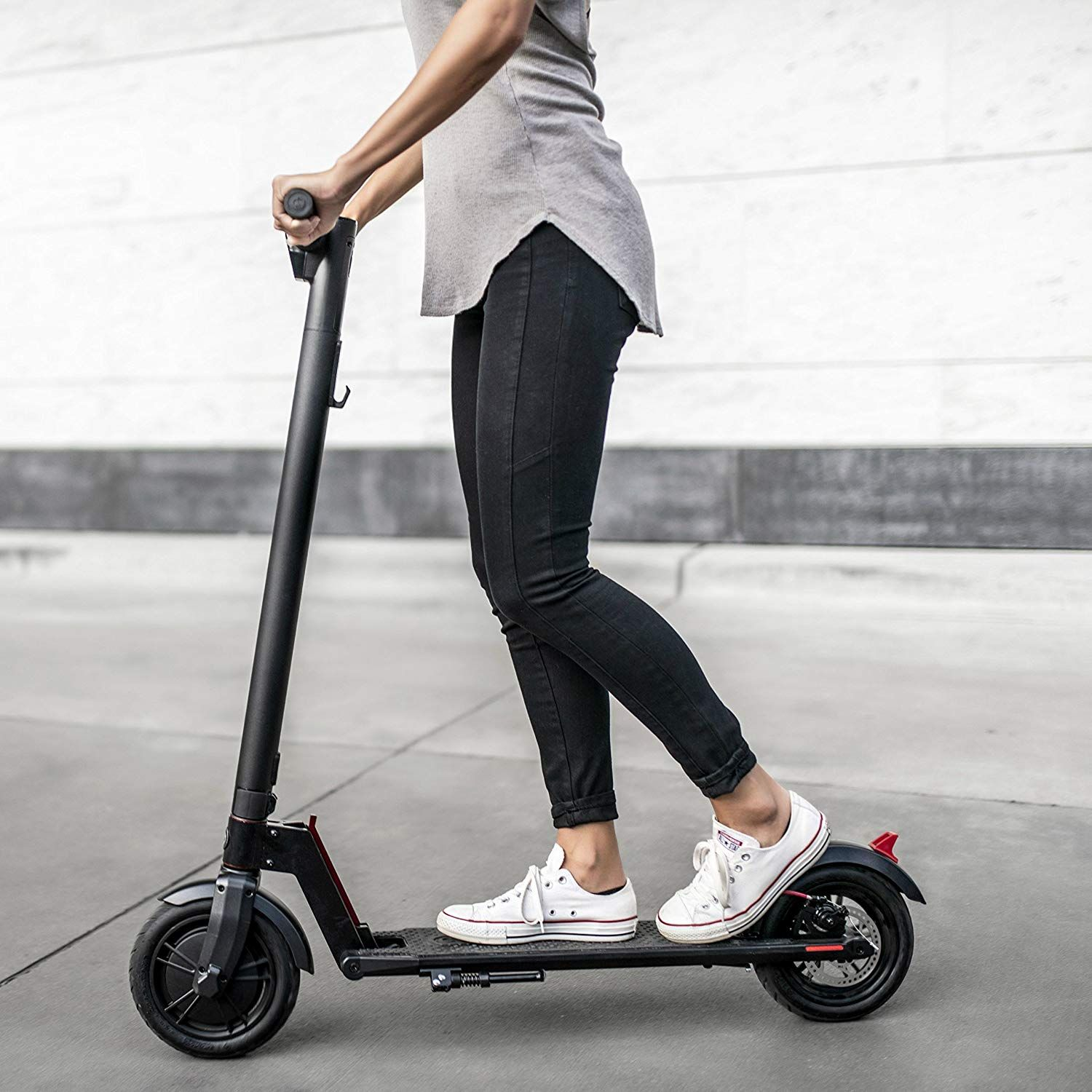 Amazon Com Gotrax Gxl Commuting Electric Scooter 8 5 Air Filled Tires 15 5mph Up To 1 Best Electric Scooter Electric Scooter For Kids Electric Scooter