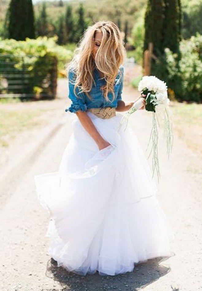 8e92466f6e0 Ces robes en tulle repérées sur Pinterest nous font rêver Country Wedding  Dresses