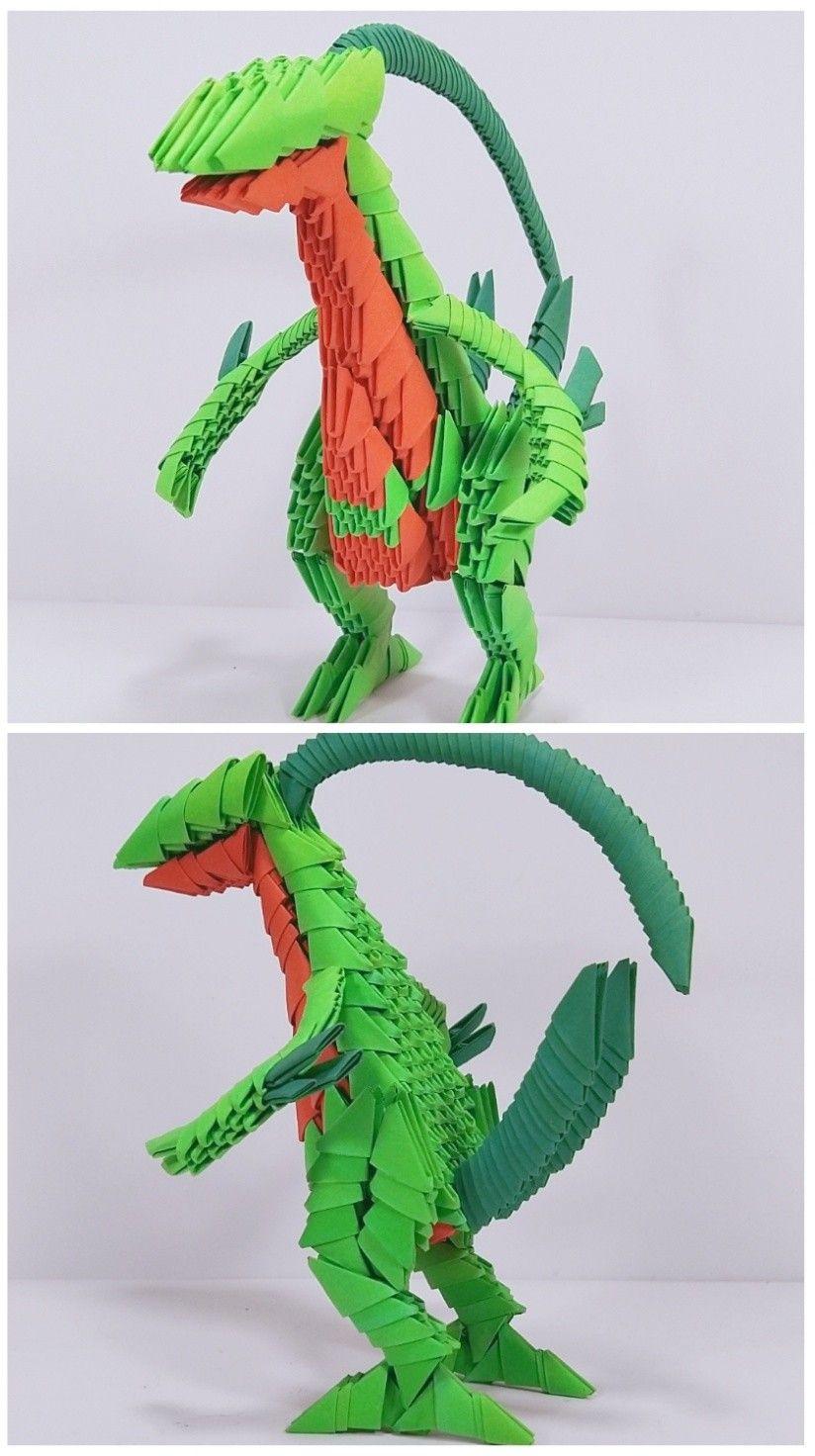 Photo of 3d origami Grovyli from pokemon