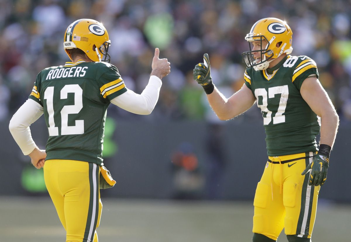 Aaron Rodgers To Jordy Nelson Connection Dominates In The Red Zone Green Bay Packers Green Bay Packers