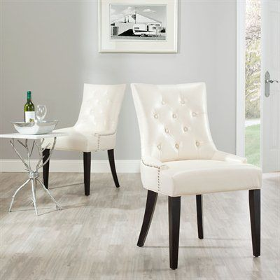 Safavieh Furniture MCR4701 Ashley KD Side Chairs (Set of 2)