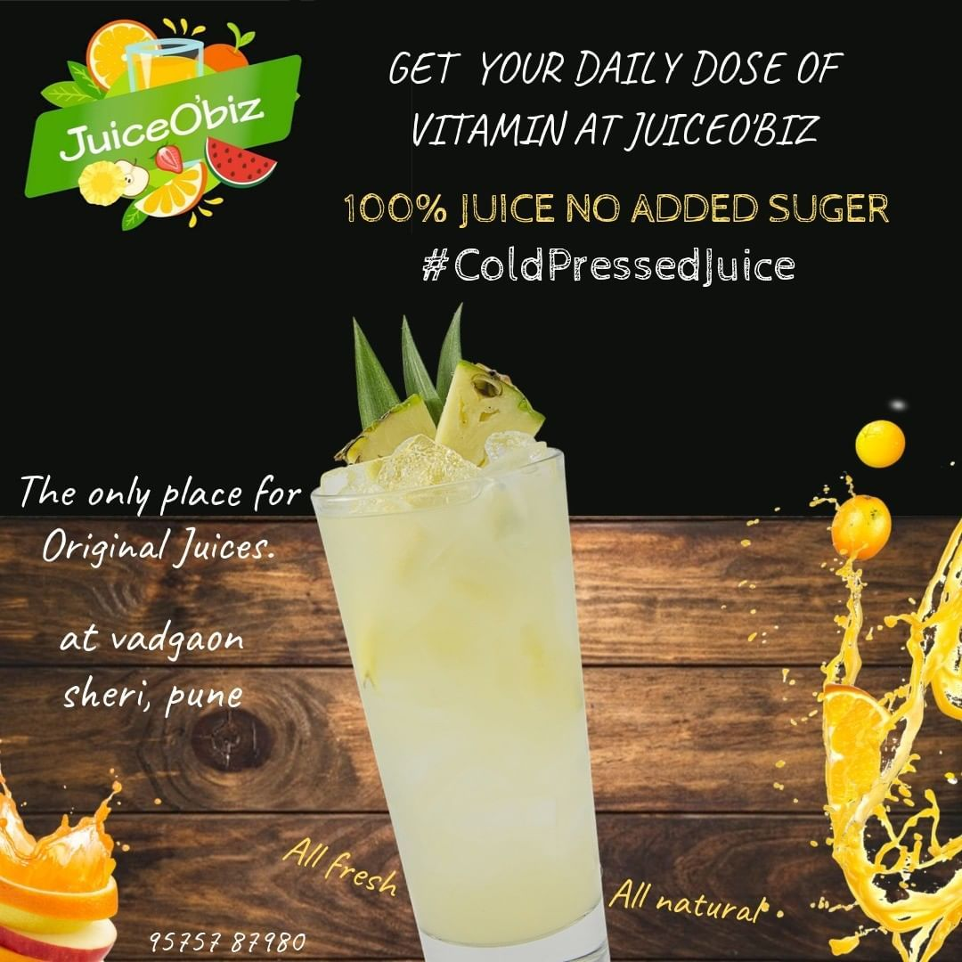 Get your daily dose of vitamins with refreshing fruits juice. The real raw 💯% fruit juice no added s...